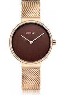 Relógio Feminino Curren Analógico Feminino - Feminino-Bronze