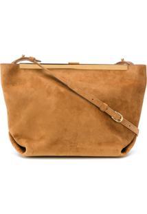 Khaite Top Clasp Shoulder Bag - Marrom