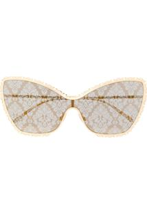 Dolce & Gabbana Eyewear Óculos De Sol Gatinho - Dourado