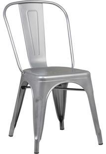 Cadeira Iron Sem Braços Cinza Rivatti Móveis