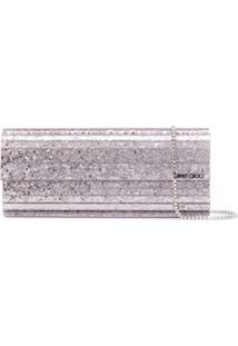 Jimmy Choo Clutch Sweetie Com Brilho - Roxo