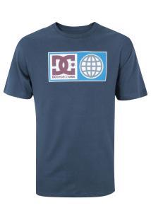 Camiseta Dc Global Salute - Masculina - Azul Escuro