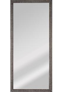 Espelho De Parede Retangular Coral 100 93X25Cm Prata