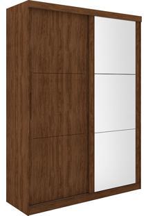 Guarda Roupa 2 Portas Com Espelho Pratico - Robel - Jacaranda / Madeirado
