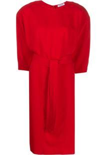 P.A.R.O.S.H. Belted Midi Dress - Vermelho