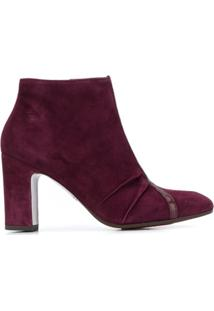 Chie Mihara Erina Y-Strap Ankle Boots - Vermelho