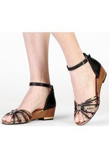 Sandália Dakota Tiras - Feminino-Preto