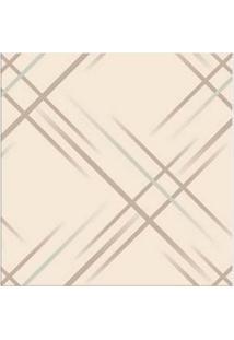 Papel De Parede Geométrico Cinza Nacarado Casa Bella Vinilizado 53Cm X 10M Muresco