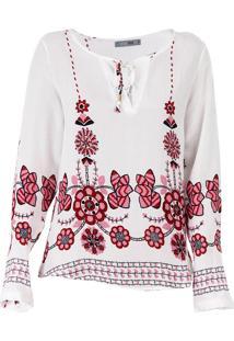 Bata Floral Feminina Acrobat - Branco