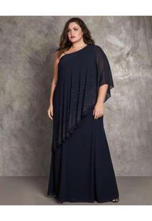 Vestido Almaria Plus Size Pianeta Longo Um Ombro S
