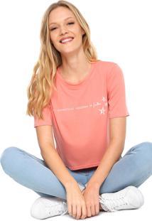 Camiseta Cropped Acrobat Empoderada Julho Coral