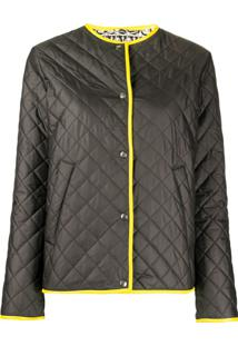 Salvatore Ferragamo Contrast-Trimmed Quilted Jacket - Preto
