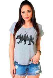 Camiseta Shop225 Urso Forest Mescla