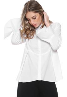 Camisa Sacada Babados Branca