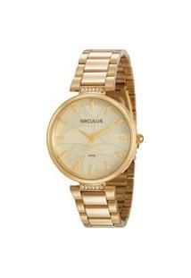 Relógio Analógico Seculus Feminino - 77010Lpsvda1 Dourado