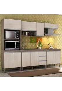 Cozinha Modulada Karen 5 Módulos 7650 Malbec/Avelã - Mpdecor