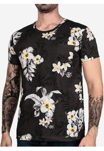 Camiseta Hibisco Branco 102113