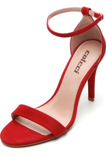 Sandália Colcci Camurça Vermelha