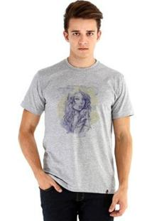 Camiseta Ouroboros Manga Curta Mulher Tatuada - Masculino-Cinza