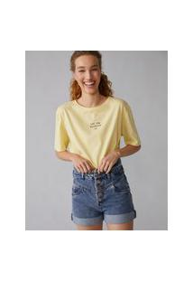 Amaro Feminino T-Shirt Let The Sunshine In, Amarelo Escuro