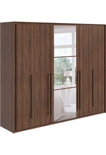 Guarda-Roupa Casal Com Espelho Reali 6 Pt Imbuia