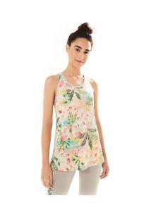 ... Camiseta Regata Farm Rio Xô Suor Borbopétalas - Feminina - Amarelo Cla Rosa  Cla f07f4bedc11ae