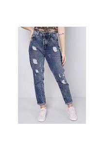 Calça Mom Jeans Blue Escura Gang Feminina
