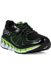 Tênis Esportivo Masculino Olympikus Speedy Running Preto/Verde