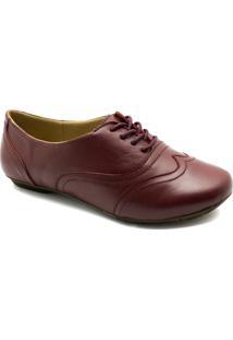 ec785a573 Oxford Couro 1307 Doctor Shoes Feminino - Feminino-Vermelho