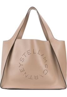 Stella Mccartney Perforated Logo Tote Bag - Cinza