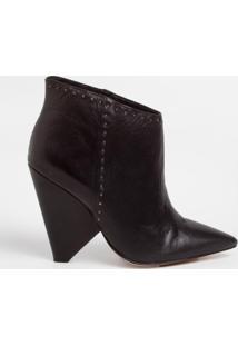 Ankle Boot Le Lis Blanc Leticia Couro Preto Feminina (Petroleo, 34)