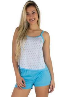 Pijama Mvb Modas Curto Blusinha Alça Short Liso Feminino - Feminino
