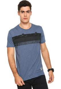 Camiseta Hang Loose Listrado Azul