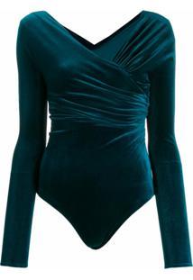 Alexandre Vauthier Body Transpassado - Azul