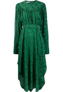Stella Mccartney Vestido Midi De Jacquard - Verde