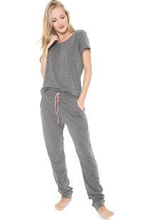 Pijama Lupo Loungewear Cinza