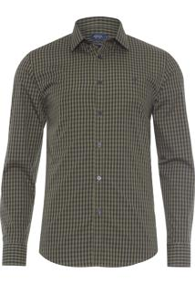 Camisa Masculina Casual Slim - Verde