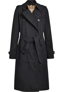 Burberry Trench Coat The Long Kensington Heritage - Preto