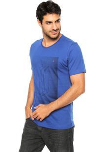 Camiseta Aramis Regular Fit Retângulos Azul