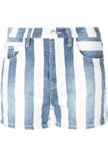 Current/Elliott Short Jeans Listrada - Azul