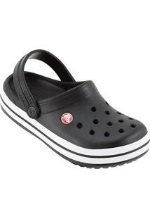 Sandália Infantil Crocs Crocband - Masculino-Preto+Branco