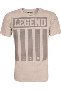 Camiseta Gang Alongada Botonê Linho Legend Cinza