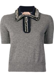 Nº21 Camisa Polo Mangas Curtas - Cinza