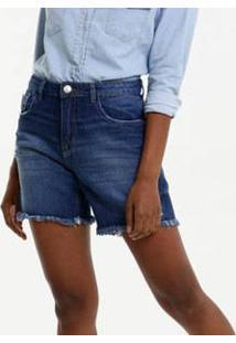 Bermuda Feminina Jeans Destroyed Marisa