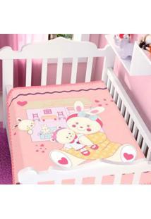 Cobertor Infantil Jolitex Raschel Casa De Boneca Feminino - Rosa - Dafiti