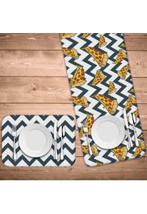 Jogo Americano Com Caminho De Mesa Pizza Abstract Kit Com 4 Pã§S + 1 Trilho - Multicolorido - Dafiti
