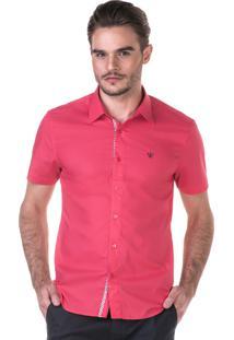 Camisa Docthos Manga Curta Pink