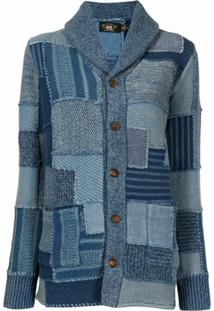 Ralph Lauren Rrl Patchwork Knit Cardigan - Azul