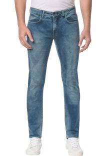 Calça Jeans Five Pockets Skinny Azul Médio - 40