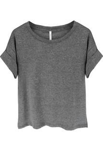 Camiseta Tea Shirt Bella Cinza
